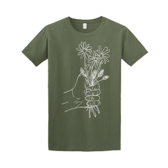 A HANDFUL OF FLOWERS GREEN TEE