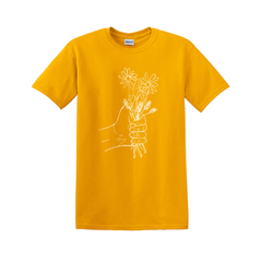 A HANDFUL OF FLOWERS YELLOW TEE