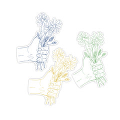 A HANDFUL OF FLOWERS STICKER SET