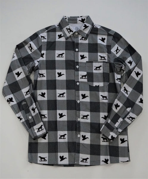 Antler & Wood Check Flannel