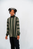 Lazy Oaf Stripe Roll Neck LS