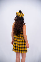 Lazy Oaf Yellow Check Pinny Dress