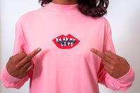 Lazy Oaf Read My Lips Pink Tee Dress