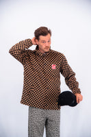 Lazy Oaf Men's Checkerboard Coach Jacket