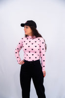 Lazy Oaf Little Hearts High Neck Top