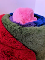 Lazy Oaf Furry Rainbow Scarf Oversized