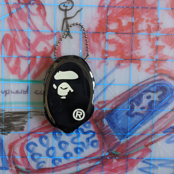 A Bathing Ape Bape Ape Head Coin Case