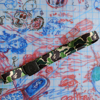 A Bathing Ape Bape Long GI Camo Belt