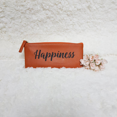 Personalised Pen Pouch / Case - Orange - The Blossom Gift