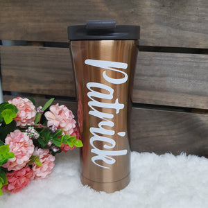 Double Wall Stainless Steel Tumbler - Gold - The Blossom Gift