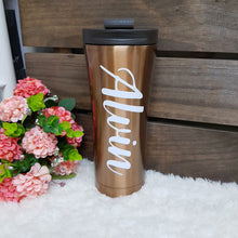 Load image into Gallery viewer, Double Wall Stainless Steel Tumbler - Gold - The Blossom Gift