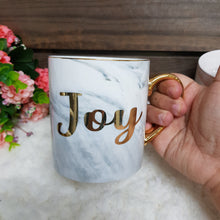Load image into Gallery viewer, Grey Marble Mug with Gold - The Blossom Gift