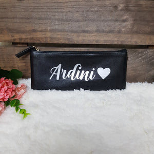 Personalised Pen Pouch / Case - Black - The Blossom Gift