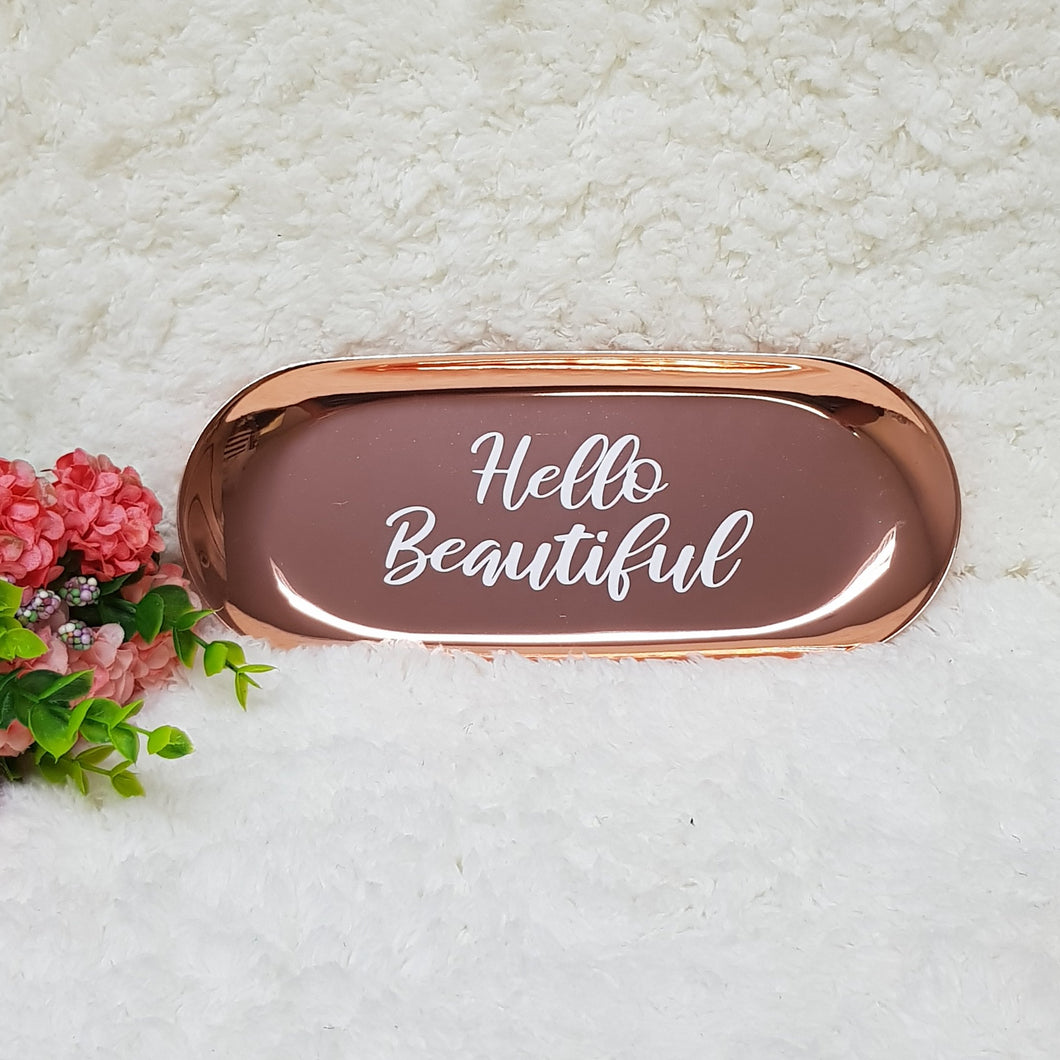 Classic Rose Gold Trinket Tray - The Blossom Gift