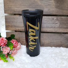 Load image into Gallery viewer, Double Wall Stainless Steel Tumbler - Black - The Blossom Gift