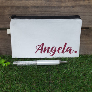 Personalised Canvas Pencil Case / Pouch - The Blossom Gift