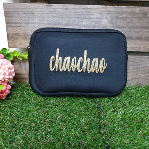 Soft Pouch - Black - The Blossom Gift