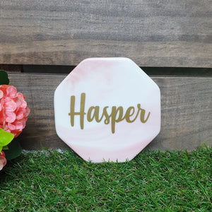 Pink Marble Coaster - The Blossom Gift