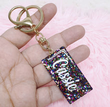 Load image into Gallery viewer, Glitter Personalised Key Chain - The Blossom Gift