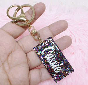 Glitter Personalised Key Chain - The Blossom Gift