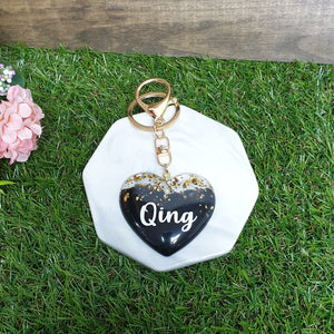 Black Gold x Heart Key Chain - The Blossom Gift