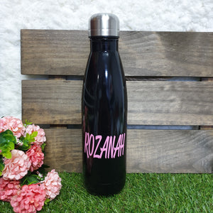'Bowling Pin' Vacuum Flask Water Bottle - BLACK - The Blossom Gift