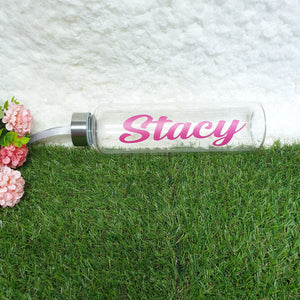 Personalised Glass Bottle - The Blossom Gift