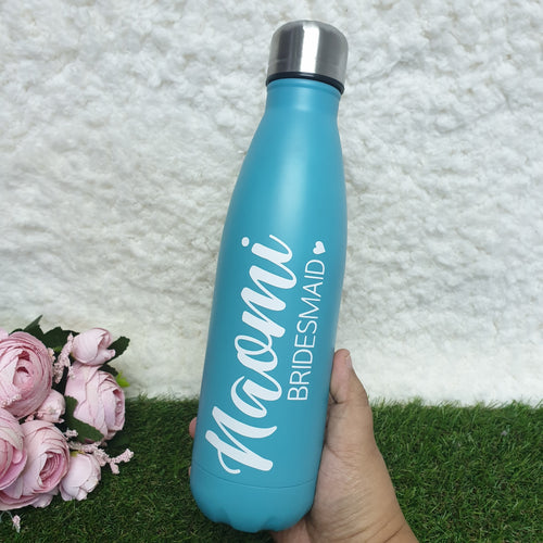 'Bowling Pin' Vacuum Flask Water Bottle - TEAL