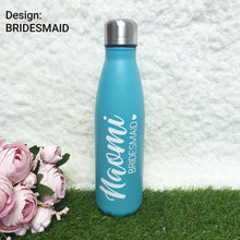 Load image into Gallery viewer, 'Bowling Pin' Vacuum Flask Water Bottle - CHROME BLUE - The Blossom Gift
