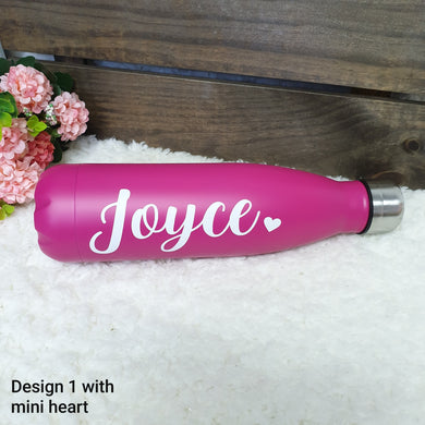 'Bowling Pin' Vacuum Flask Water Bottle - HOTPINK - The Blossom Gift