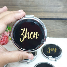 Load image into Gallery viewer, Personalised Pocket Mirror - The Blossom Gift