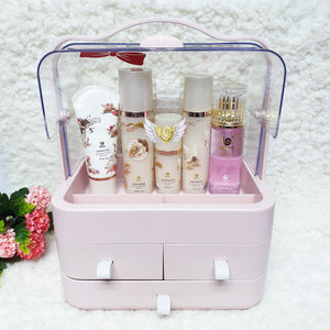 Personalised Pink Makeup Organiser Box - The Blossom Gift