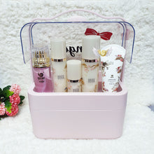 Load image into Gallery viewer, Personalised Pink Makeup Organiser Box - The Blossom Gift