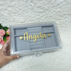 Personalised 3 tier jewellery organiser - The Blossom Gift
