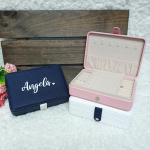 Personalised Travel Jewellery Box - The Blossom Gift