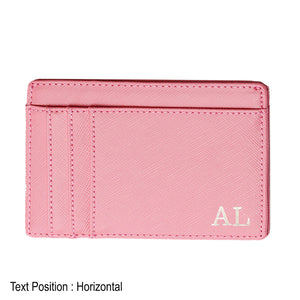 Card Holder 9 Slot - Pink - The Blossom Gift