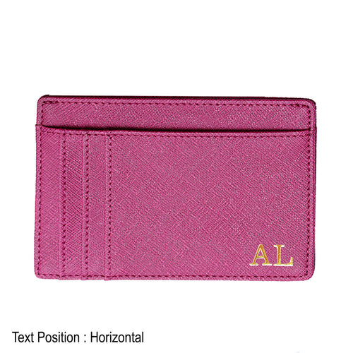 Card Holder 9 Slot - Purple - The Blossom Gift
