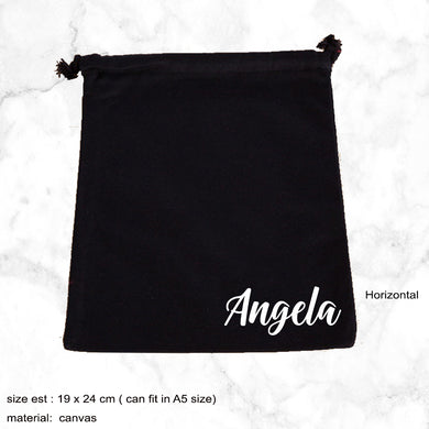 Personalised Canvas Drawstring Pouch