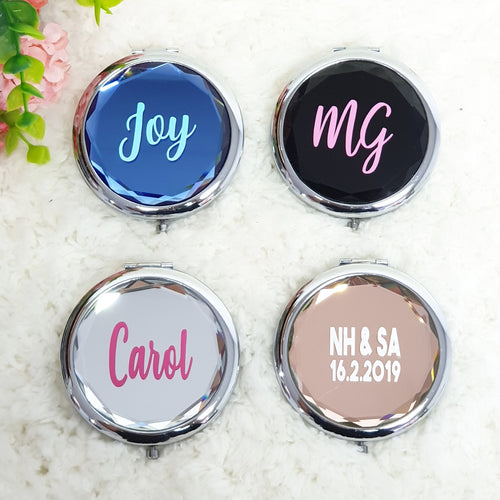 Personalised Pocket Mirror - The Blossom Gift