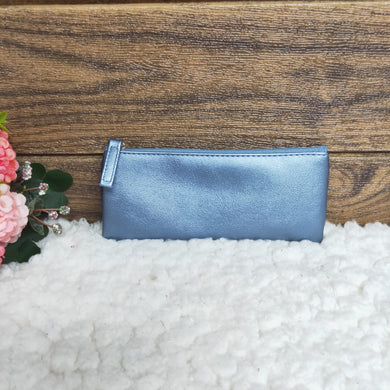 Personalised Pen Pouch / Case - Pearl Blue