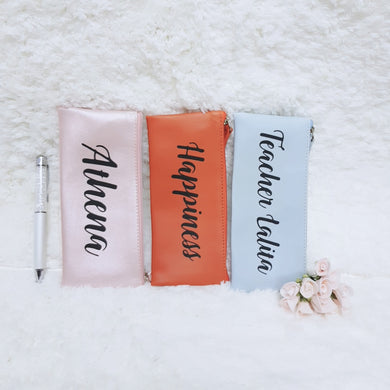 Personalised Pen Pouch / Case - Pink - The Blossom Gift
