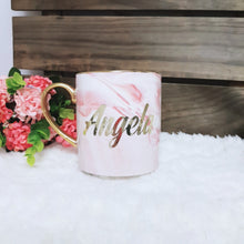 Load image into Gallery viewer, Pink Marble Mug with Gold - The Blossom Gift