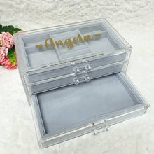 Load image into Gallery viewer, Personalised 3 tier jewellery organiser - The Blossom Gift