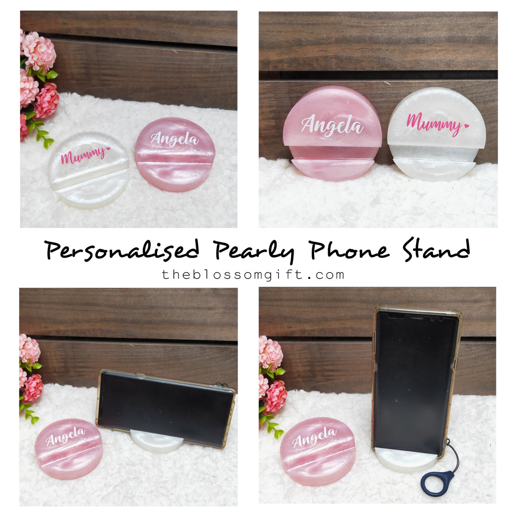 Pearly Phone Stand / Name Card Stand