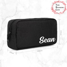Load image into Gallery viewer, Personalised Padded Canvas Pouch