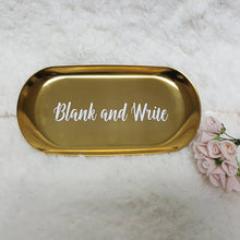 Load image into Gallery viewer, Classic Gold Trinket Tray - The Blossom Gift