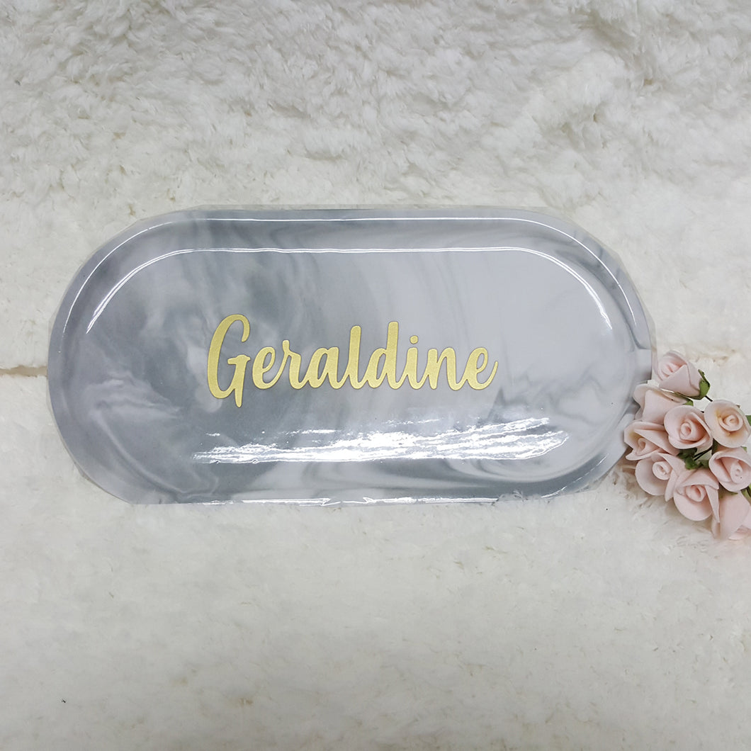Grey Marble Tray - The Blossom Gift