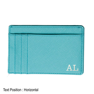 Card Holder 9 Slot - Green - The Blossom Gift