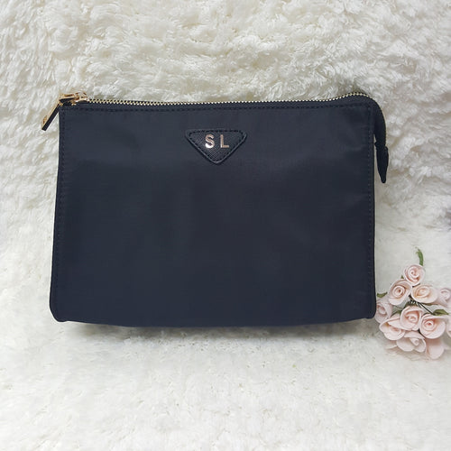 Makeup & Toiletry Travel Organiser Pouch / Bag - Black - The Blossom Gift