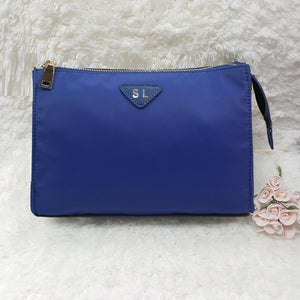 Makeup & Toiletry Travel Organiser Pouch / Bag - Dark Blue - The Blossom Gift
